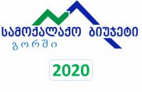 """გორის მუნიციპალიტეტში """"სამოქალაქო ბიუჯეტი 2020"""" - ის პროექტების შერჩევა იწყება"""